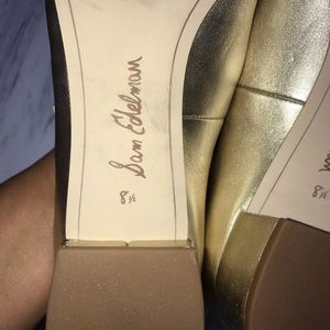 Sam Edelman Shoes - Sam Edelman Gold Metallic Lulie Block Heel Sz 8.5